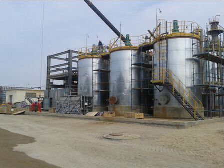 立式80吨改性沥青高效发育罐